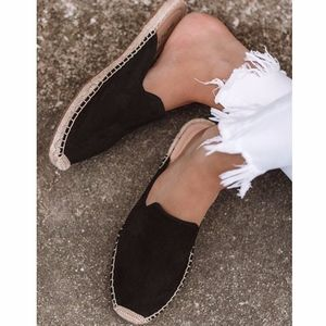 Shoes - BRIANN Flat Mule - BLACK